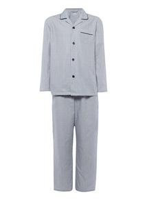 Blue Stripe Twill Pyjama Set