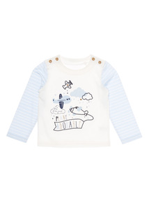 White Planes Tee (0-12 months)