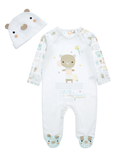 2c1202e46 Baby Unisex White Bear Sleepsuit with Hat (0-24 months)