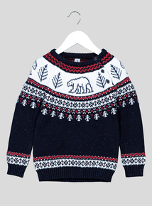 Multicoloured Fairisle Button Jumper (1 - 6 Years)