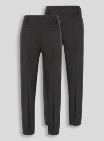 Black Crease Resistant Trouser (3-12 years) 2 Pack