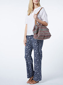 Multicoloured Canvas Bag