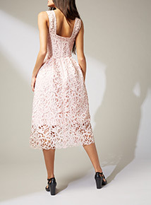 Online Exclusive Premium Pink Lace Dress