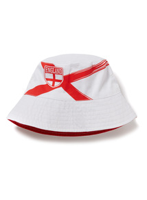 White and Red World Cup England Bucket Hat (1-9 years)