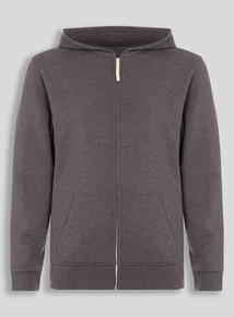 Unisex Grey Fleece Hoodie (10-16 years)