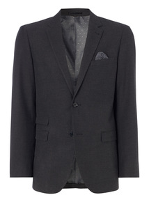 Charcoal Herringbone Tailored Jacket