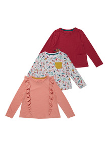 Multicoloured 3Pack Secret Garden Tops (9 months - 6 years)