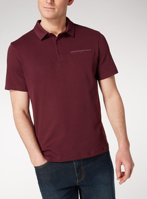 Dark Red Polo Top