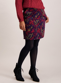 Burgundy Paisley Skirt