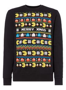 Black Christmas PacMan Sweatshirt