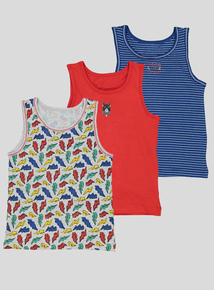 Multicoloured 'Hero In Training' Vests 3 pack (18 months - 6 years)