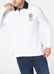 Official Licensed England White Rugby Top