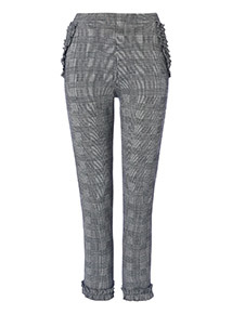 Prince of Wales Check Frill Trousers