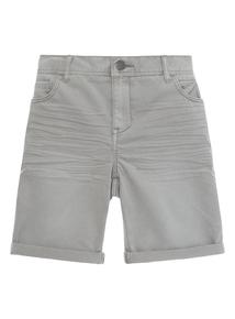Boys Grey Denim Shorts (3-12 years)