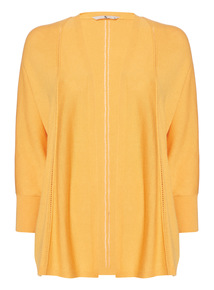Yellow Cut-Out Cardigan