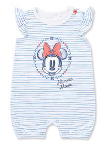 White Stripe Minnie Mouse Romper (Newborn - 18 months)