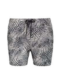Black, Grey & White Palm Leaf Board Shorts