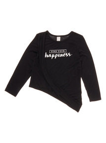 Black Drapey Top (3 - 14 years)