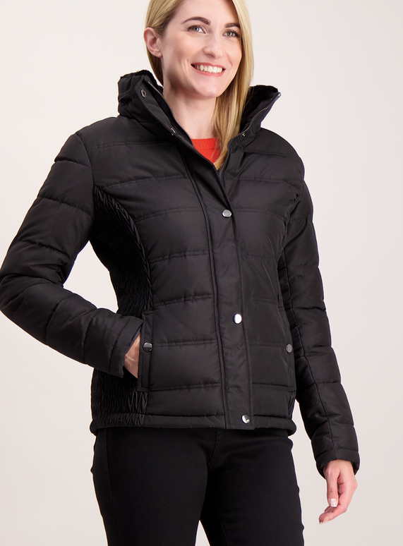243ae147107f3 Womens Black Quilted Padded Jacket | Tu clothing
