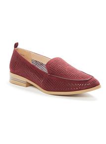 Red Slipper Cut Shoes