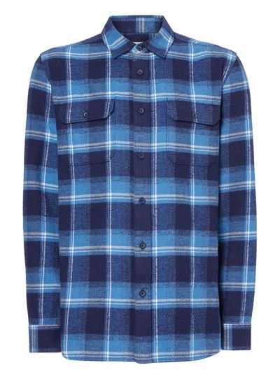Navy Long Sleeve Check Shirt