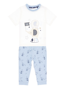 Elephant 2-Piece Pyjama Set (0 - 12 months)
