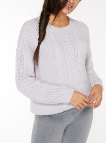 Knitted Cable Sleeve Jumper