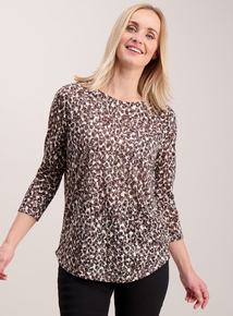 Multicoloured Animal Print Pocket Top