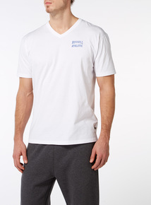 Online Exclusive Russell Athletic White V-Neck Tee