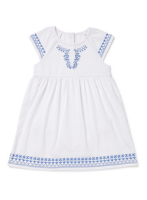 Multicoloured Embroidered Jersey Dress (0-24 months)