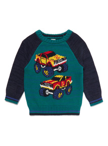 Multicoloured Truck Jumper (9 Months- 6 Years)