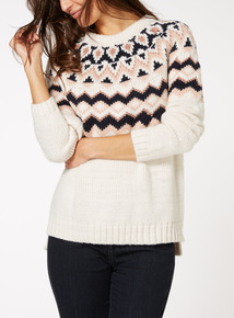 Fairisle Yoke Knitted Jumper