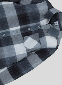 Grey Check Button-Up Shirt (3-14 Years)