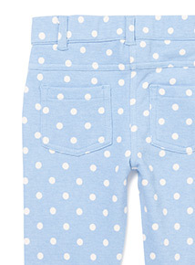 Light Blue Spot Jeggings (9 months-6 years)