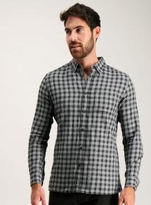 Grey Regular Fit Check Shirt