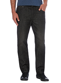 Black Straight Wash Denim Jeans