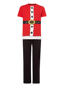 Red Santa Outfit Pyjama Set