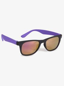 fdb0d6b189 Matte Black   Purple Sunglasses (Small - Regular)