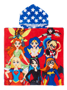 Multicoloured Super Hero Girls Swim Poncho
