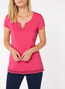 Pink Short Sleeve Pyjama Top