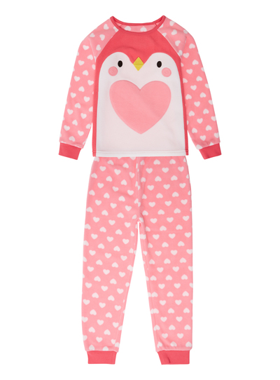 All Girl's Clothing Girls Pink Fleecy Penguin Pyjamas (2-12 years ...