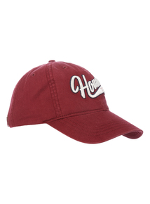 Dark Red Houston Appliqué Cap