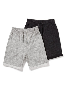 2 Pack Jersey Shorts (3-14 years)
