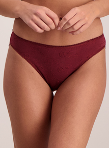 Multicoloured Embroidered High Leg Knickers 5 Pack