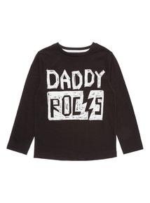 Black Daddy Rocks Tee (9 months-6 years)