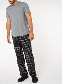 Black Check Pyjama Set