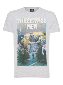 Grey Christmas Wise Men Tee