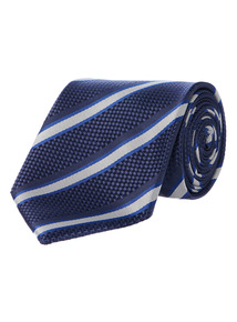 Navy Club Stripe Tie