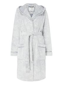 Grey Floral Embossed Robe