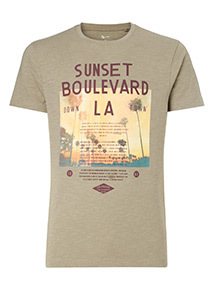 Khaki Sunset Boulevard T-Shirt